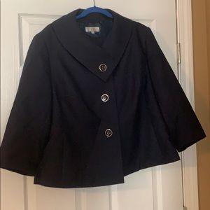 Navy skirt suit